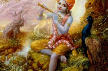 Praticando Yoga com as Crianças com uma História de Krishna